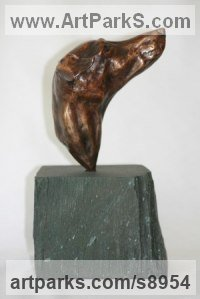 Bronze Dogs sculpture by Mary Staffiere titled: 'Butter Wouldn`t Melt (small bronze dog head)'