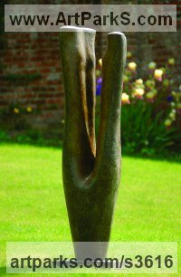 Bronze Abstract Contemporary Modern Outdoor Outside Garden / Yard Sculptures Statues statuary sculpture by Marzia Colonna titled: 'Harmony (garden Contemporary Focal Point sculpture)'