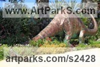 Monsters Sculpture by sculptor artist Meir Cohen titled: 'dinosaur sculpture from copper' in Sculpture