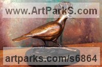 Bronze Varietal Mix of Bird Sculptures or Statues sculpture by Michael J Mawdsley titled: 'Woodsman (Hoopoe Woodpecker Yaffle sculpture statue)'