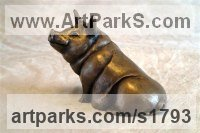 Bronze Resin Animals in General sculpture sculpture by sculptor Moira Purver titled: 'Sitting Pretty'