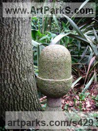 Land Art Sculpture by sculptor artist Moudoir titled: 'Acorn Finial' in Granite