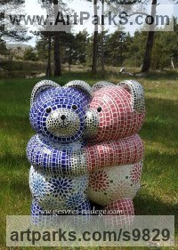 Mosaic sculpture by Nad�ge Gesvres titled: 'Douceur'