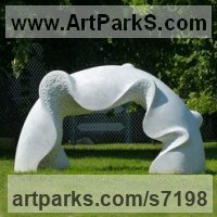 Marble sculpture Public Art sculpture by Nando Alvarez titled: 'Bridge of Water (Contemporary Yard Carving statue)'