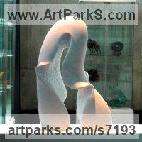 Marble sculpture Organic / Abstract sculpture by sculptor Nando Alvarez titled: 'Fountain (Carved stone abstract Flowing Wave Indoor Inside statue)'