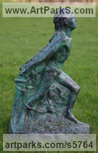 Bronze Human Figurative sculpture by Naomi Bunker titled: 'Emergence (bronze Boy Stepping into New Era sculpture)'