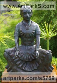 Bronze Objects of desire sculpture by Naomi Bunker titled: 'Indian Dancer (Girl bronze in Ritual Dance Postures)'