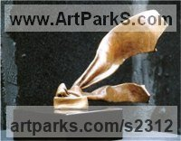 Bronze Necktie sculpture by Nicholas B. Daddazio titled: 'Freedom'