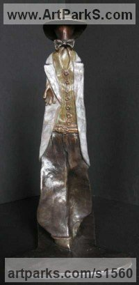 Bronze Necktie sculpture by sculptor Nicholas B. Daddazio titled: 'Male Moda'