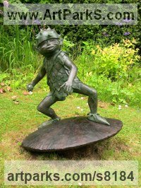 Bronze Resin & Concrete Mythical sculpture by Nicholas Collins titled: 'Forest Elf (garden Elf Pixies sculptures statues)'