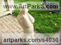 Blaxster sandstone Sculptures of females by Nicholas Rowsell titled: 'female Torso (Carved stone garden/Yard statues)'