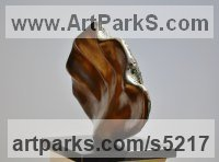 Cold Cast Bronze Shells Sculptures including Land and Sea and Freshwater Shells Fossil Shells sculpture by Nicola Beattie titled: 'Wavy Clam (bronze resin life size Shell Indoor/Outdoor statuary)'