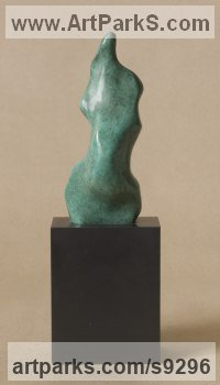 Bronze Modern Abstract Contemporary Avant Garde Sculptures or Statues or statuettes or statuary sculpture by Nicola Godden titled: 'Eve I (Modern Contemporary Bronze Sensuous sculpture)'