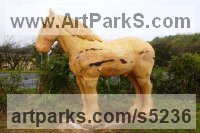 Cedar and oak Horse Sculpture / Equines Race Horses Pack HorseCart Horses Plough Horsess sculpture by sculptor Nigel Sardeson titled: 'Shire Horse (Big Outsize Carved Wood sculptures/statues/carving)'