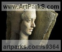 Refractory terracotta Busts and Heads Sculptures Statues statuettes Commissions Bespoke Custom Portrait Memorial Commemorative sculpture or statue sculpture by Paola Grizi titled: 'Sequency (EmergingYoung female Face sculpture statue)'