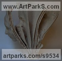 Terracotta Books sculpture by Paola Grizi titled: 'between pages'