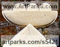 Bath Stone/limestone Carved Abstract Contemporary Modern sculpture carving sculpture by sculptor Perryn Butler titled: 'Arc (Small Carved stone Modern abstract Indoor statue)'