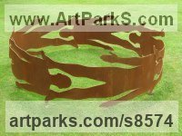 Steel Love / Affection sculpture by Pete Moorhouse titled: 'Human Circle #2'