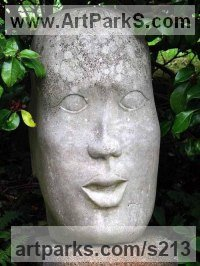 Portland stone Human Form: Abstract sculpture by sculptor Peter Nicholas titled: 'My Doll'