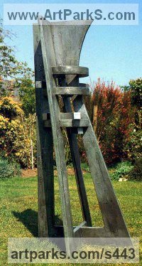 Wood & Aluminum resin Architectural sculpture by sculptor Peter Thursby titled: 'Watch Tower 1'