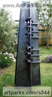 Wood & Aluminum resin Architectural sculpture by sculptor Peter Thursby titled: 'Watch Tower 2'