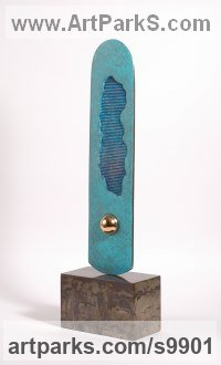 Sculpture Focal Point Abstract Contemporary Modern sculpture statue sculpture by Philip Hearsey titled: 'A Long Way I'