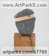 Bronze/stone/wood Organic / Abstract sculpture by Philip Hearsey titled: 'Beach Song 13'