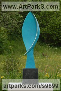 Bronze sculpture Abstract Contemporary Modern Outdoor Outside Garden / Yard Sculptures Statues statuary sculpture by Philip Hearsey titled: 'Response IV'