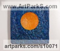 Focal Point Abstract Contemporary Modern sculpture statue sculpture by Philip Hearsey titled: 'Saturday Sun'
