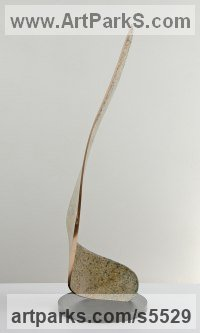 Bronze Architectural sculpture by Philip Hearsey titled: 'Windblade VI (Minimalist Interior Bronze sculptures)'