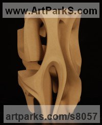Abstract Modern Contemporary Avant Garde Sculptures Statues statuettes figurines statuary both Indoor Or outside sculpture by Pierre-Olivier Cappello titled: 'Strength (Small Carved stone Indoor Intricate sculpture statue carving)'