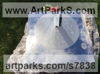 Stainless Steel Sundials sculpture by Piers Nicholson titled: 'Memorial Sundial in the National Arboretum'