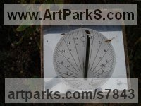 Stainless Steel Sundials sculpture by Piers Nicholson titled: 'Sundial presented to a Berkshire care home'