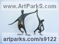 Bronze Human Form: Abstract sculpture by Plamen Dimitrov titled: 'Well done'
