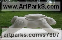 Limestone stone Animal Kingdom sculpture by Rachael De Freitas titled: 'HAROLD - the Hare'