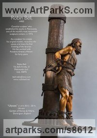 Bronze Mythical sculpture by Robin Bell titled: 'Ulysses (Realistic Lashed to Mast sculpture for sale)'
