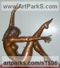 Bronze Females Women Girls Ladies sculpture statuettes figurines sculpture by sculptor Ronald Cameron titled: 'Anna 2'