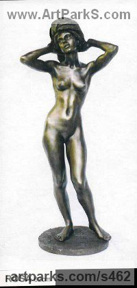 Bronze Females Women Girls Ladies sculpture statuettes figurines sculpture by sculptor Ronald Cameron titled: 'Rosa'