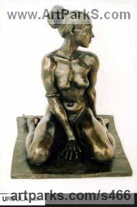 Bronze Females Women Girls Ladies sculpture statuettes figurines sculpture by sculptor Ronald Cameron titled: 'Ursula'