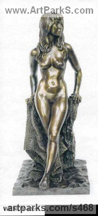 Bronze Females Women Girls Ladies sculpture statuettes figurines sculpture by sculptor Ronald Cameron titled: 'Wendy'