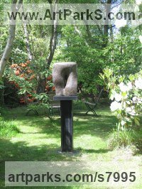 Bronze Modern Abstract Contemporary Avant Garde Sculptures or Statues or statuettes or statuary sculpture by Rosemarie Powell titled: 'abstract 4 (Contemporary Modern garden Yard Outside Outdoors statue)'