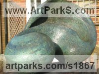 Bronze resin (or bronze on request. POA) Modern Abstract Contemporary Avant Garde Sculptures or Statues or statuettes or statuary sculpture by Rosemarie Powell titled: 'Making Waves (abstract Outdoor garden/Yard statue)'