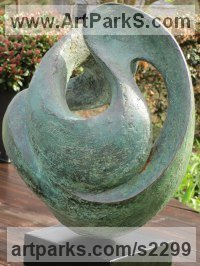 Resin bronze (bronze POA) Garden Or Yard / Outside and Outdoor sculpture by Rosemarie Powell titled: 'You Cant Stop the Waves but You Can Learn to RideThem'