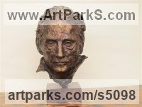 Bronze Sculpture of Men by Rosie Sturgis titled: 'the Hon William Douglas-Home (bronze Portrait Bust Head sculpture statue)'