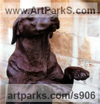 Commission and Custom and Bespoke sculpture Statues by sculptor artist Sally Arnup titled: 'Labrador Rampent' in Bronze