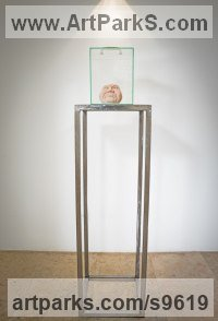 Glass and cement Glass or Acrylic Transparant sculpture by Sandra Borges titled: 'Toxic'
