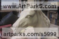 Cold cast bronze Horses Heavy / Working Shire, Plough, Dray, Barge, Horses Sculptures Statues statuettes commissions memorials sculpture by Sara Ross titled: 'Diego (Bronze resin Horse Head Bust Commission statues sculptures)'