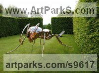 Stainless Steel Garden Or Yard / Outside and Outdoor sculpture by Sebastian Novaky titled: 'Bioregulation 1 (stainless steel Big Ant statue)'