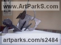 Metal Abstract Fish sculpture by Senol Podayva titled: 'Metal Fish (abstract Indoor Yard sculptures/statues)'