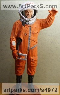 Polistoun Celebrity and Star sculpture by Sergey Antonenko titled: 'Gargarin (Miniature Standing Spaceman statuettes)'